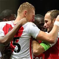Mónaco remontó y venció 2-1 a Angers; Falcao estuvo en el estadio