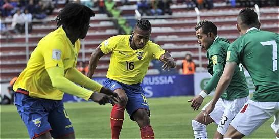 En los últimos minutos, Ecuador le empató 2-2 a Bolivia