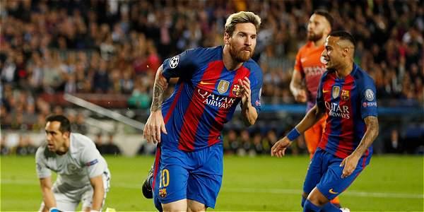 Lionel Messi celebra una de sus anotaciones.
