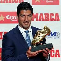 Luis Suárez recibió la segunda Bota de Oro de su carrera