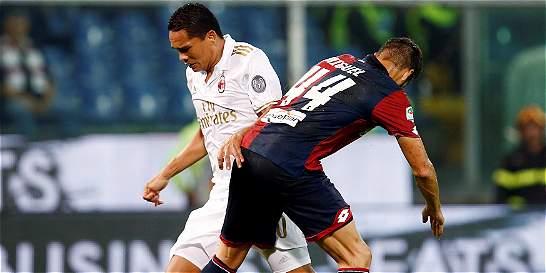 Milan cayó 3-0 en su visita a Génova en la Liga italiana