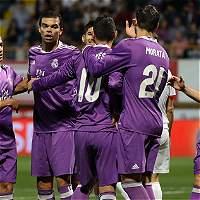 Con James Rodríguez, Real Madrid goleó 1-7 a Cultural Leonesa