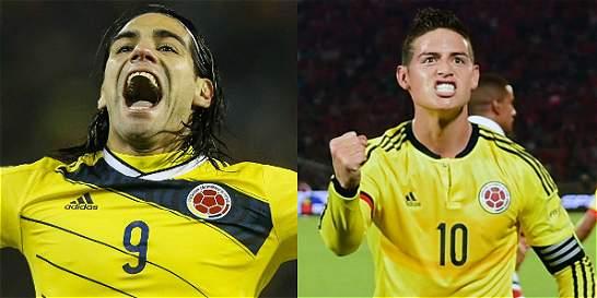 Falcao y James buscarán repetir la película contra Chile
