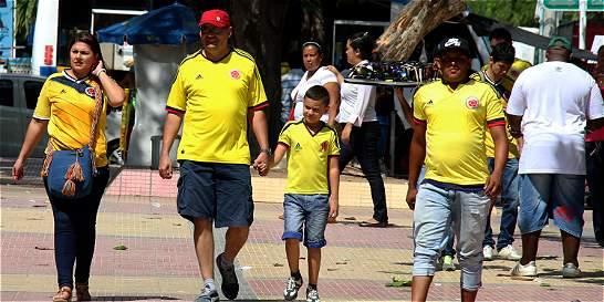 Barranquilla 'hierve' por el partido Colombia-Chile