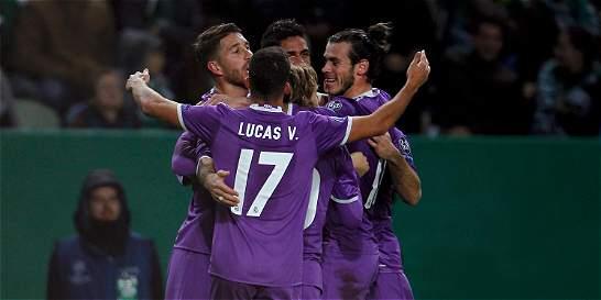Sin James, Real Madrid venció 1-2 a Sporting y avanzó en la Champions