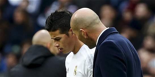 James, el volante que menos juega esta temporada en Real Madrid
