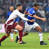 Sampdoria derrotó 2-0 a Torino; Muriel jugó 90 minutos