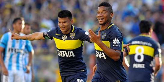 Con 3 colombianos en cancha, Boca goleó 4-2 a Racing