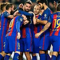 Con tres goles de Tura, Barcelona goleó 4-0 al Möenchengladbach