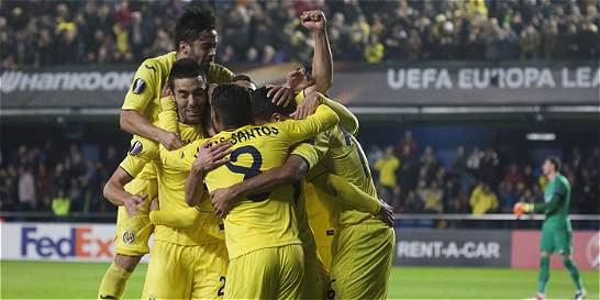Villarreal, con Santos Borré en cancha, derrotó 2-1 al Steaua Bucarest