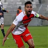 Falcao anotó 3 goles en la victoria del Mónaco contra el Burdeos