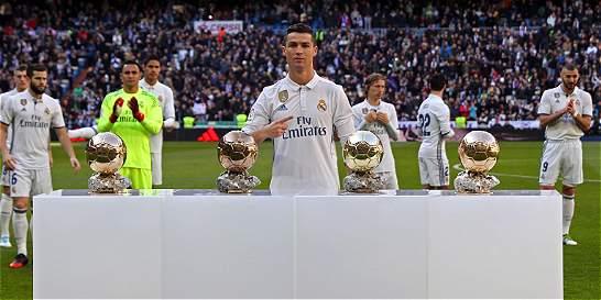 Cristiano dedicó su cuarto Balón de Oro al Santiago Bernabéu