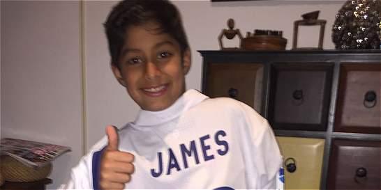 Illan, el niño al que James le cumplió el sueño con una camiseta