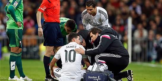 Interactivo: las lesiones que ha sufrido James Rodríguez en el Madrid
