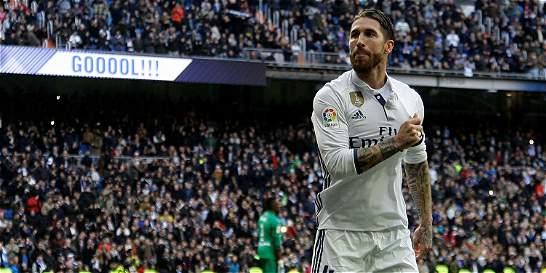 Real Madrid venció 2-1 al Málaga con dos goles de Sergio Ramos