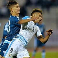 Vibrante empate 3-3 entre Argentina y Uruguay en el Sub-20