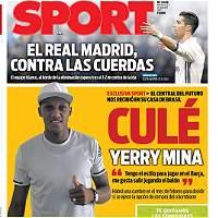 El colombiano Yerry Mina, un paso más cerca del Barcelona