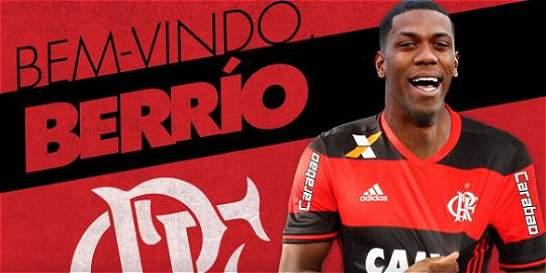 Orlando Berrío, nuevo jugador del Flamengo de Brasil