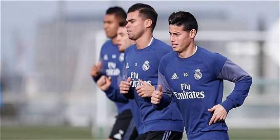 James Rodríguez regresó a entrenamientos con el Real Madrid