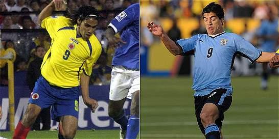 Falcao y Suárez celebran diez años del debut en sus selecciones