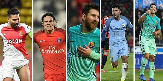 Los goleadores latinos marcan en la Champions