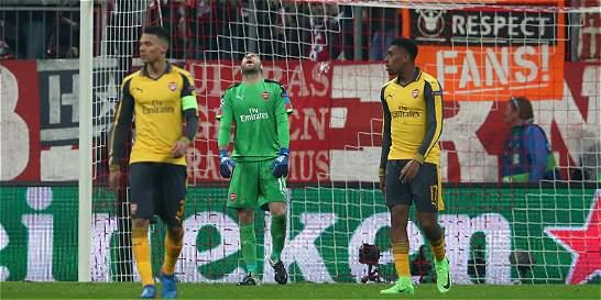 Ospina y Arsenal fueron goleados 5-1 por Bayern Múnich en la Champions