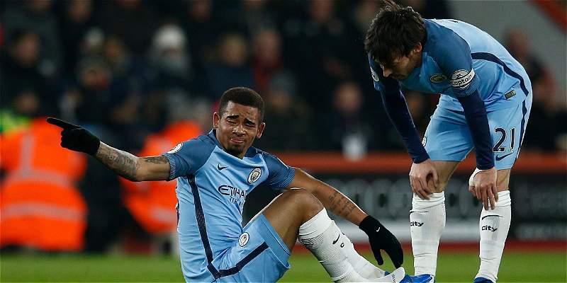 Gabriel Jesus, baja del Manchester City durante 3 meses