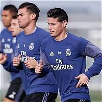 James, el volante que menos juega en rotación de Zidane
