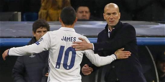 Técnico Zidane agradece el cambio de mensaje de James