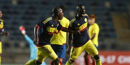 La selección sub-17 de Colombia debutó con triunfo 2-1 sobre Ecuador