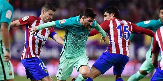 Atlético de Madrid vs. Barcelona, partido a pura presión