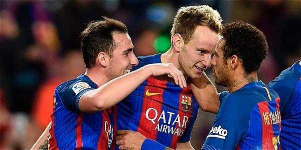Messi celebra la apertura ante Celta con un