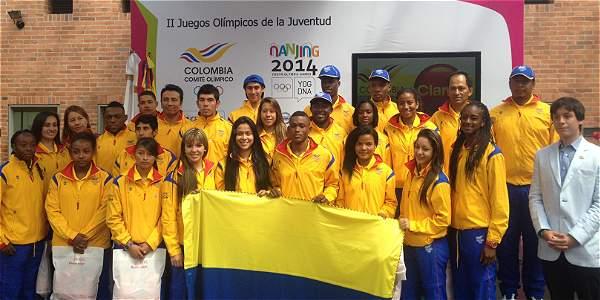 Delegación colombiana Nanjing 2014.