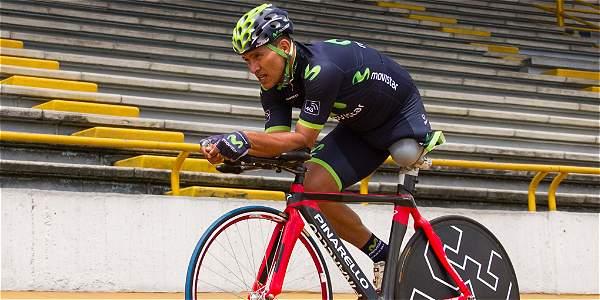 Álvaro Galvis, ciclista paralímpico y campeón del mundo en el 2011 y el 2013.