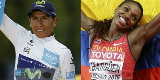 Nairo e Ibargüen, con ventaja para ser el 'Deportista del Año'