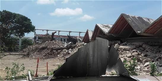 Así fue la implosión del coliseo Humberto Perea de Barranquilla