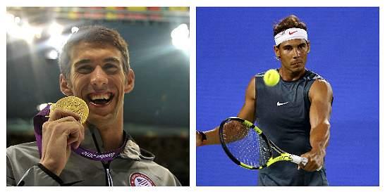 Phelps y Nadal, entre las 'superestrellas' que serán abanderados