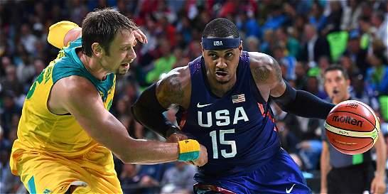Estados Unidos derrotó 98-88 a Australia en el baloncesto Olímpico