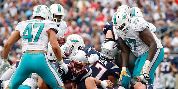 Costosa victoria de Patriots sobre Miami