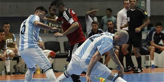 Argentina venció 5-0 a Egipto en los cuartos del Mundial Futsal