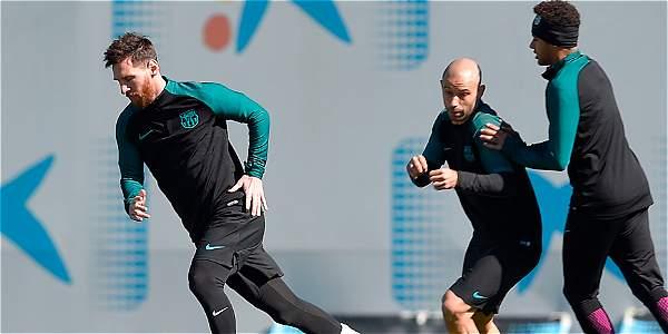 Lio Messi (izq.) encabezará el ataque del Barcelona este miércoles en el juego de vuelta de octavos de final de la Liga de Campeones fente al Paris Saint-Germain.