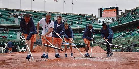 La lluvia obligó a cancelar primera sesión de Roland Garros