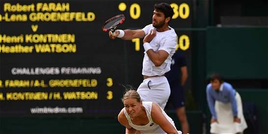 Robert Farah, subcampeón de dobles mixtos en Wimbledon