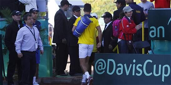 Santiago Giraldo dejó tirada a Colombia en la Copa Davis