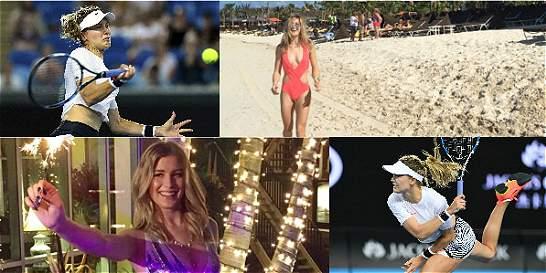 Fotos: la bella tenista que se roba las miradas en el Australian Open