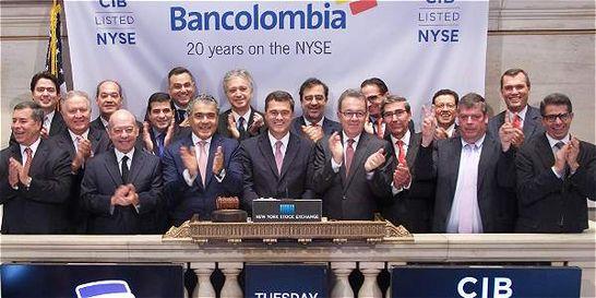 Sin compras a la vista, Bancolombia cumple 20 años en bolsa de N. Y.