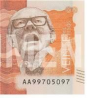 Este jueves sale a circulación billete de 20.000 pesos