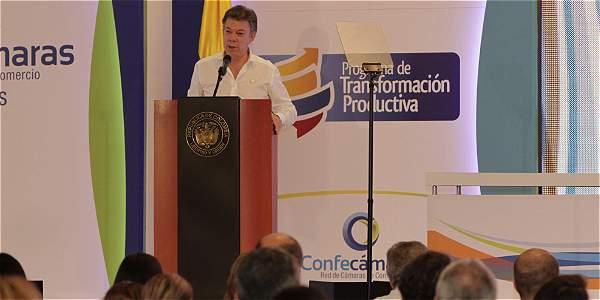 En la clausura de la asamblea de Confecámaras en Cartagena, el presidente Juan Manuel Santos dijo que se trabajará con las regiones para mejorar la competitividad del país.