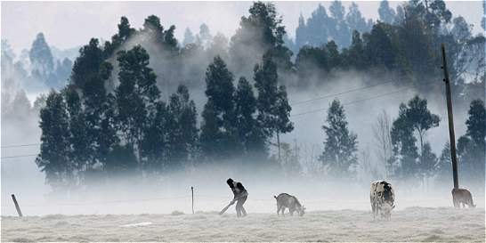 Ideam lanzó alerta por heladas en el altiplano cundiboyacense