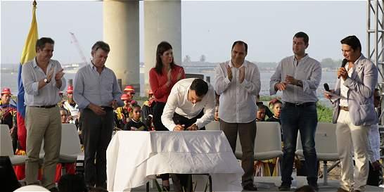En 30 días, 'banderazo' al nuevo puente Pumarejo
